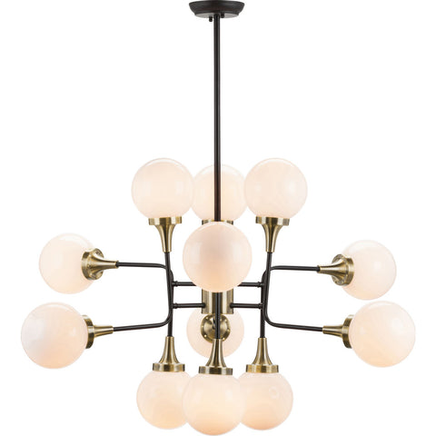 Nuevo Living Bella Lighting | Gold White Glass
