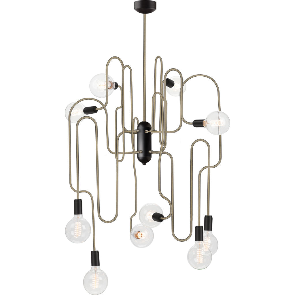 Nuevo Corrine Lighting | Antique Brass Steel Metal