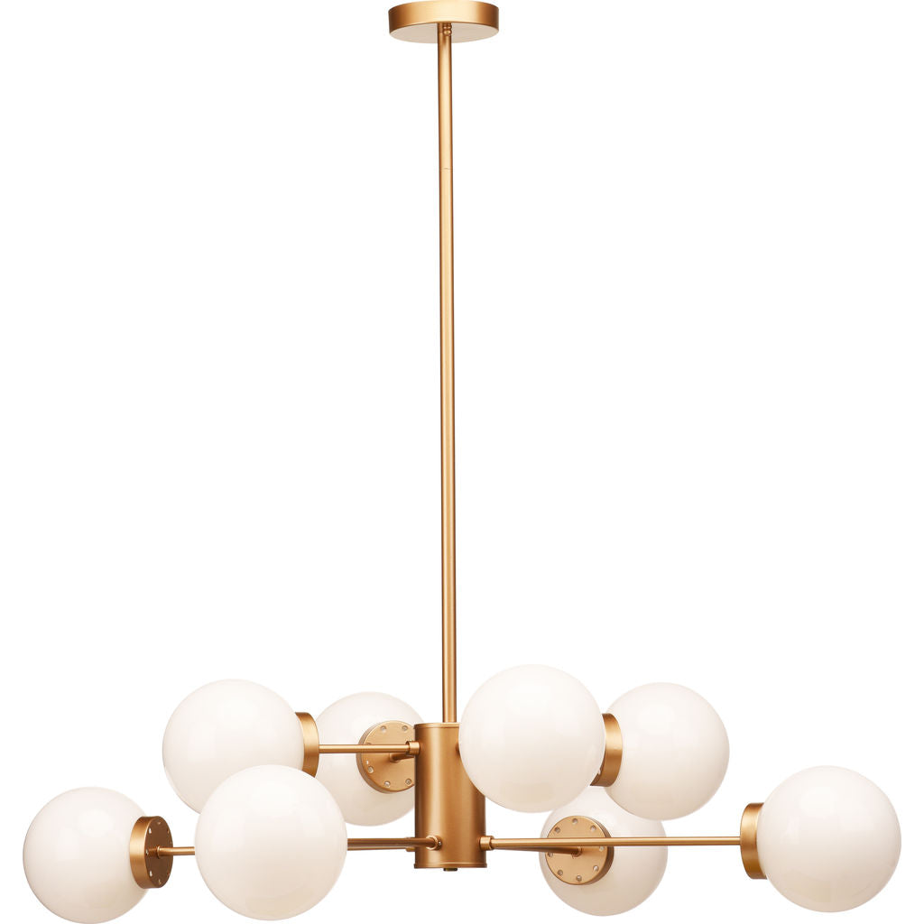Nuevo Living Dylan Lighting | Gold White Glass ...