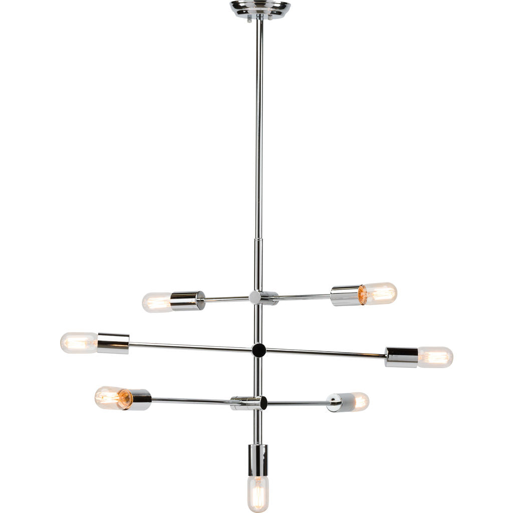 Nuevo Living Byron Lighting | Silver Steel Metal