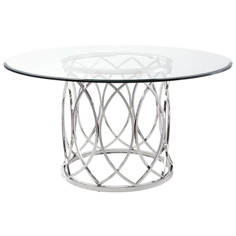 Nuevo Juliette Dining Table | Silver