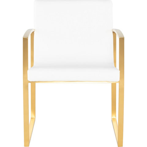 Nuevo Clara Dining Chair | White / Gold