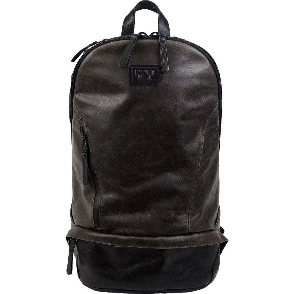 Harvest Label Leather Bomber Backpack | Brown HHC-1017
