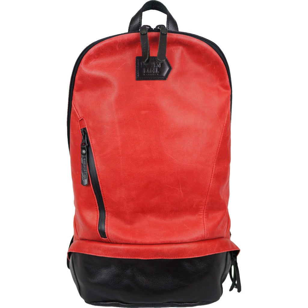 Harvest Label Leather Bomber Backpack | Red HHC-1017-RD