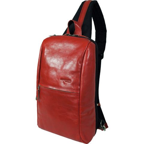 Harvest Label Leather Avenue Sling Pack | Red HHC-1525-RD