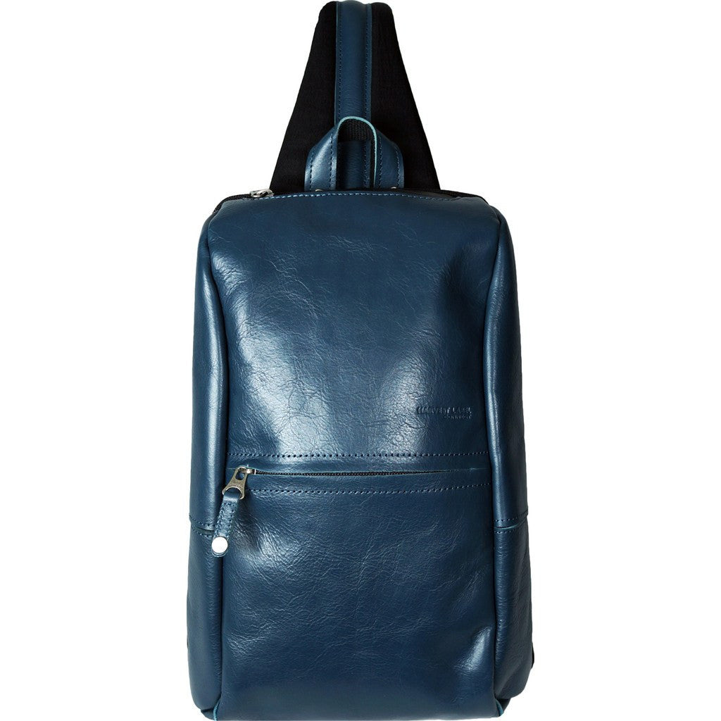 Harvest Label Leather Avenue Sling Pack | Blue HHC-1525-BLU