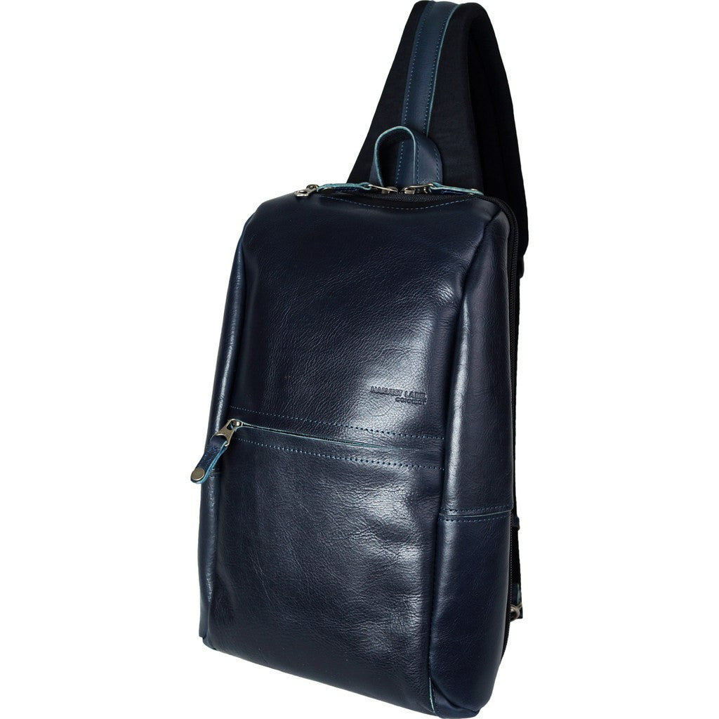 Harvest Label Leather Avenue Sling Pack | Navy HHC-1525-NVY