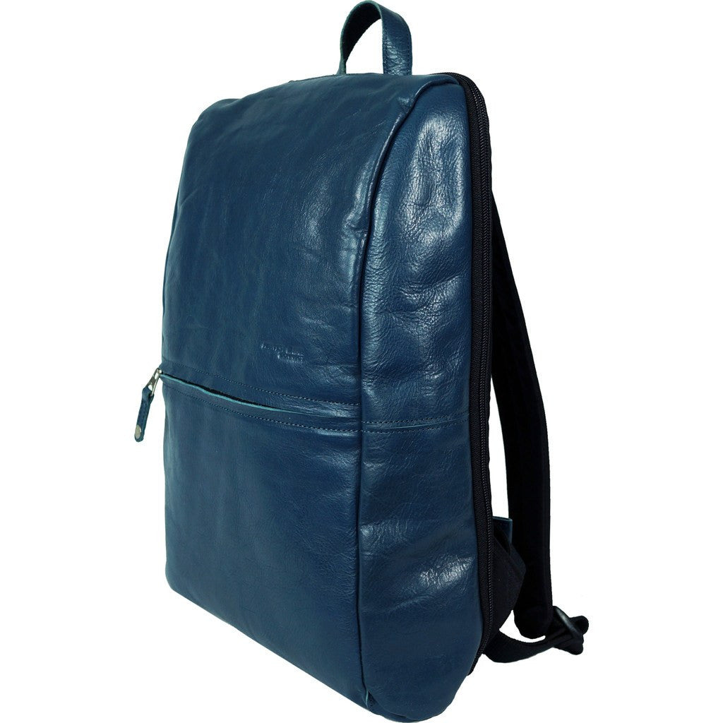 Harvest Label Leather Avenue Backpack | Blue HHC-1526-BLU