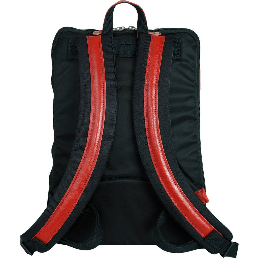 Harvest Label Leather Avenue Backpack | Red HHC-1526-RD