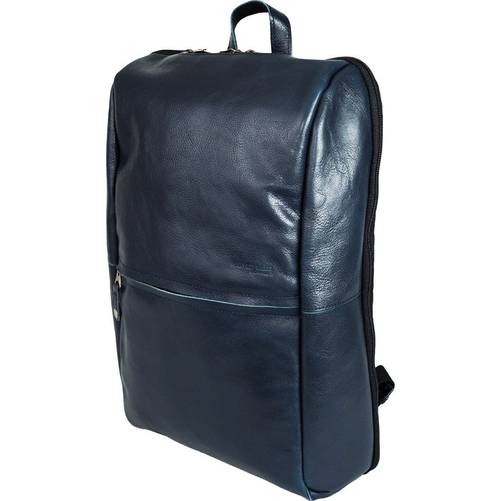 Harvest Label Leather Avenue Backpack | Navy HHC-1526-NVY
