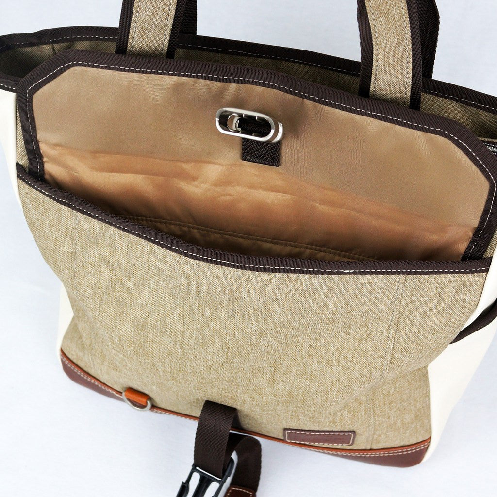 Harvest Label Parkland Tote Bag | Beige HHC-4302-BEG