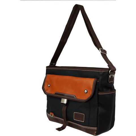 Harvest Label Parkland Messenger | Black HHC-4305-BLK