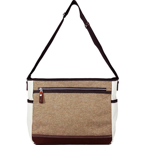 Harvest Label Parkland Messenger Bag | Beige HHC-4305-BEG