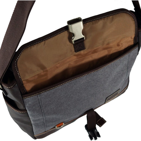 Harvest Label Parkland Messenger Bag | Grey HHC-4305-GRY