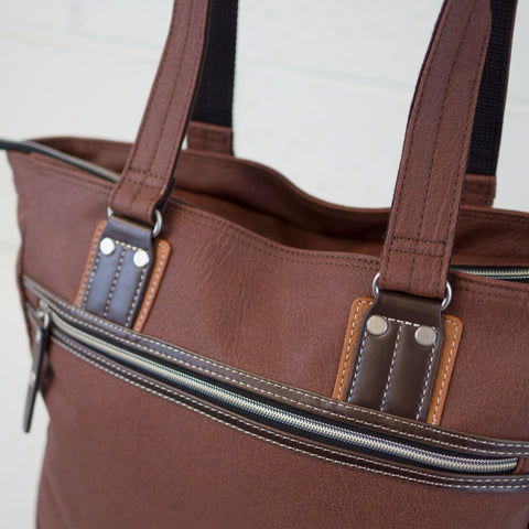Harvest Label Vantage Tote | Brown hhc-5532-brn