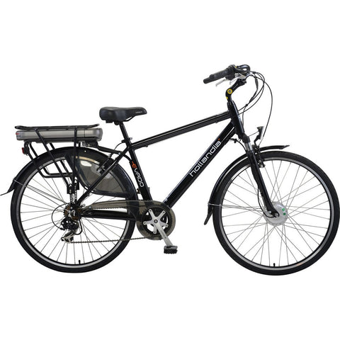 Hollandia Evado 7.21 Men's 700C Electric Bicycle | Black HL15A-21