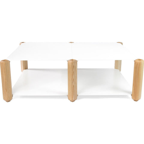 Esaila Heavystock Low Coffe Table Table-White  HLT-01-WHT