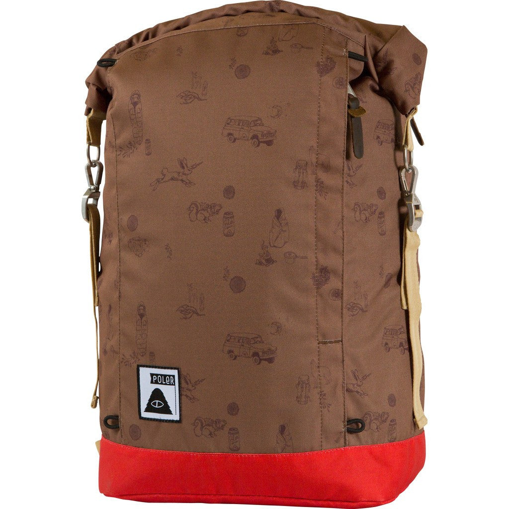 Poler Holiday Rolltop 2.0 Backpack | Brown