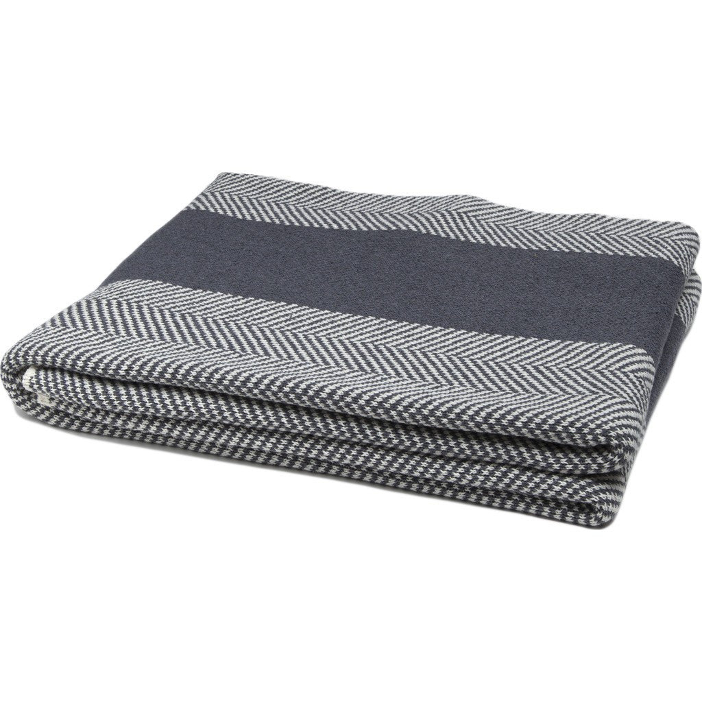 in2green Herringbone Stripe Eco Throw | Smoke/Milk BLHS01