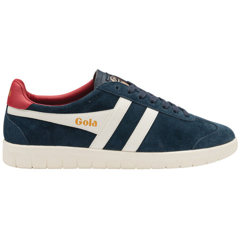 Gola Men's Hurricane Suede Sneaker | Navy/Off White/Deep Red
