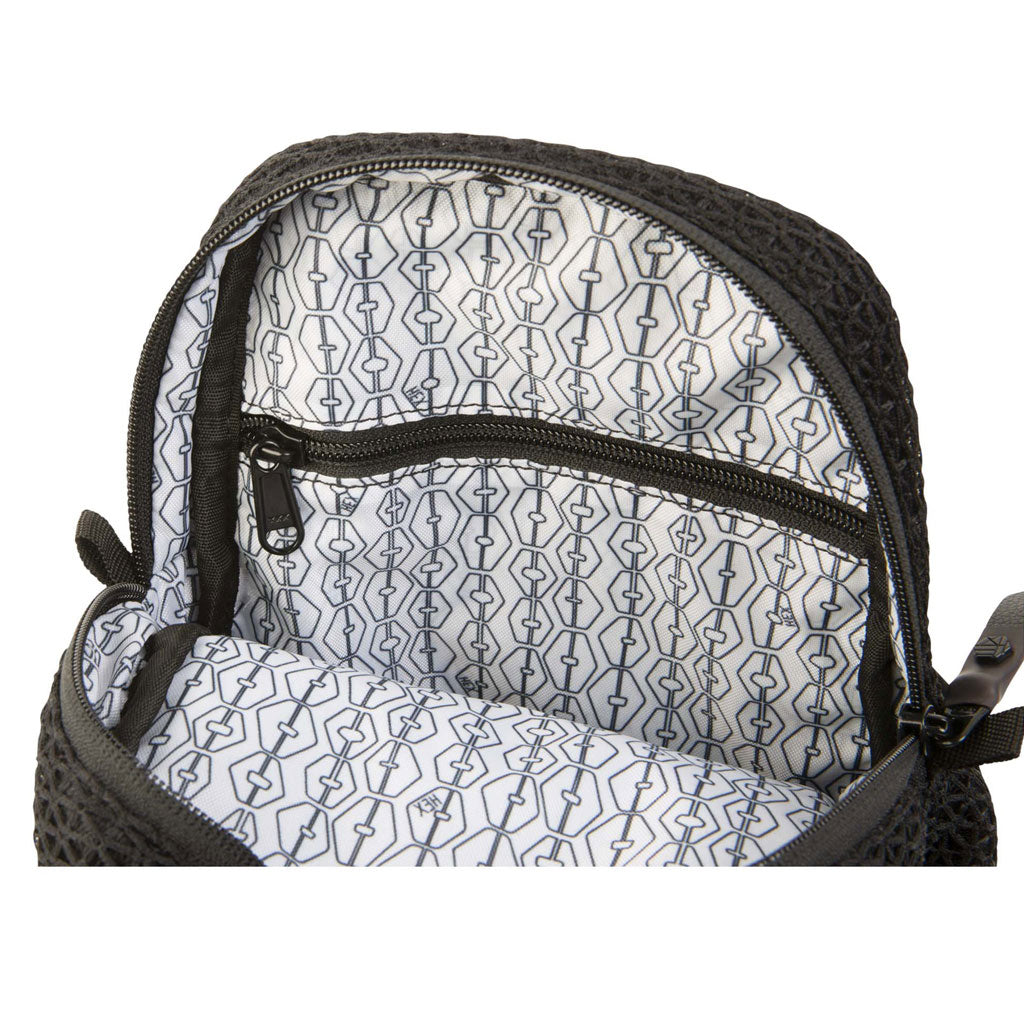 Hex Matrix Mesh Shoulder Bag | Black
