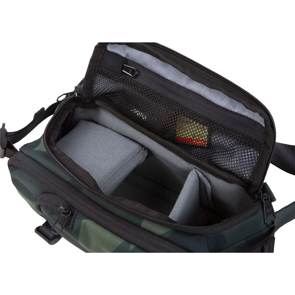 Black Camo Hex Ranger DSLR Sling with Adjustable Carry Straps Collapsible Interior Dividers /& More