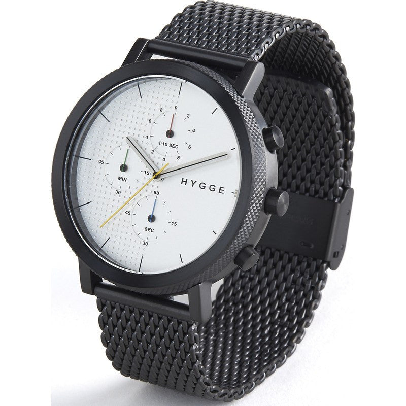 Hygge 2204 Black Watch | Black Stainless Steel