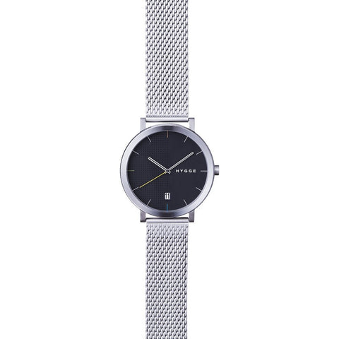 Hygge 2203 Black Watch | Silver Stainless Steel MSM2203C(CH)