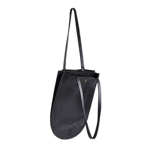 Minor History Half Moon Accordion Tote | Black HMN_362_C