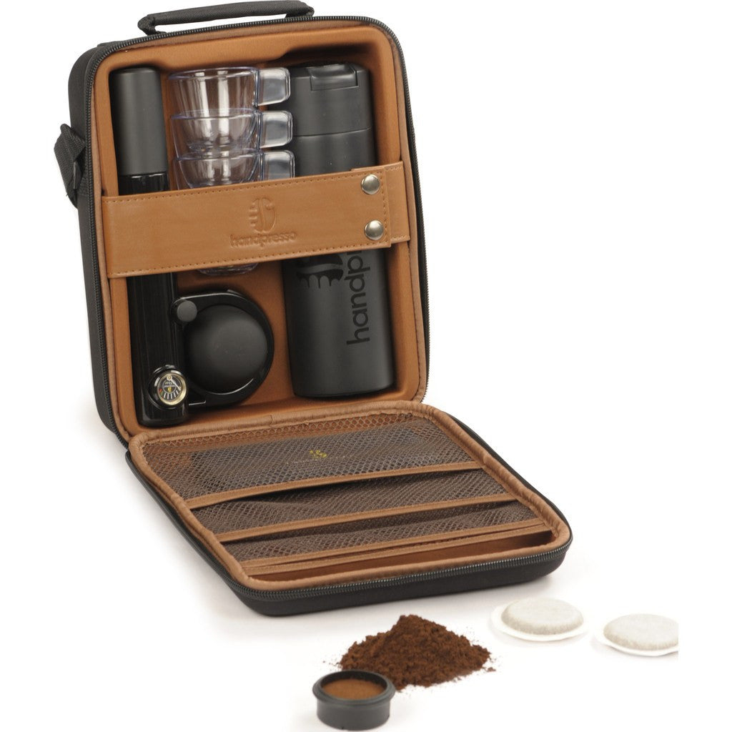 Handpresso Wild Hybrid Manual Espresso Maker Set | Black/Brown HPOUTDOORCOMPLETE