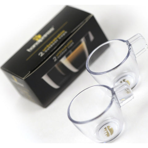 Handpresso Unbreakable Outdoor Espresso Cups | Clear HPCUPS