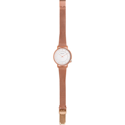 Komono Harlow Watch | Rose Gold Mesh KOM-W4110