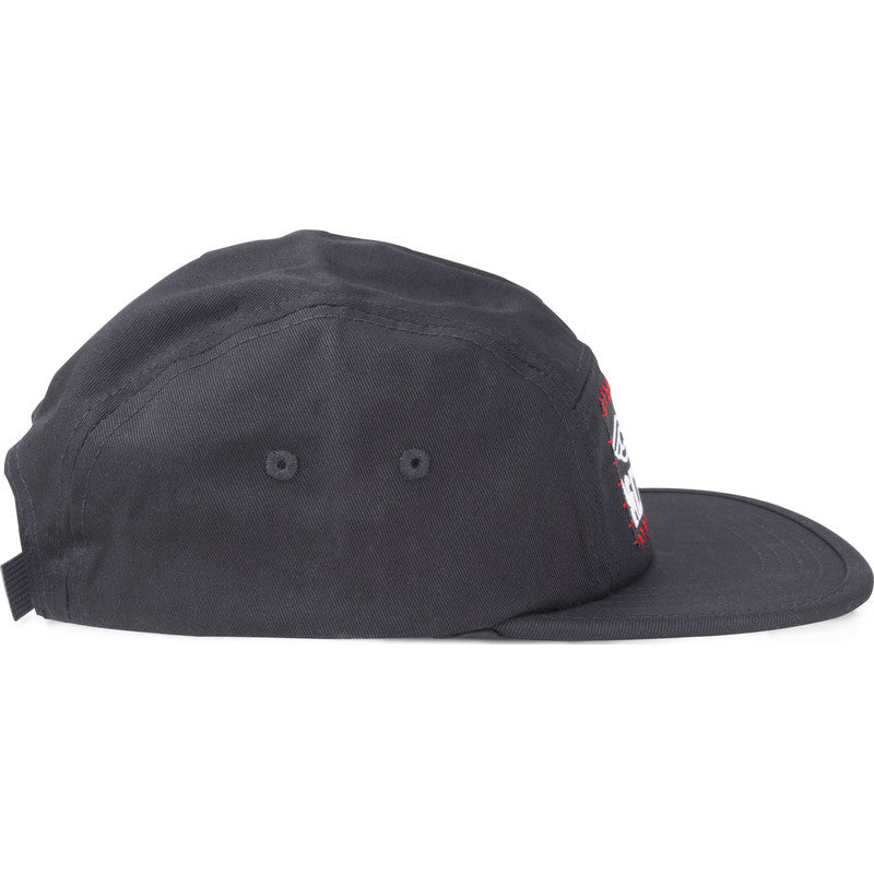 Chrome Cinelli 5-Panel Hat | Black/Cinelli Patch
