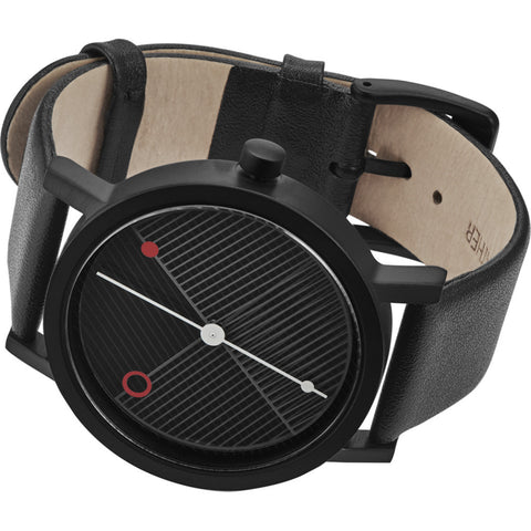 Projects Watches Hatch Steel Watch | Black/Leather