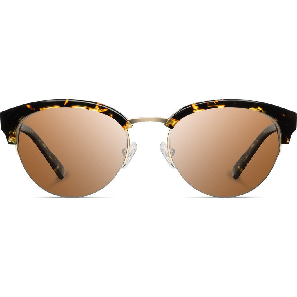 Shwood Hayden Acetate Sunglasses | Dark Speckle & Gold / Brown WWAHDSGB