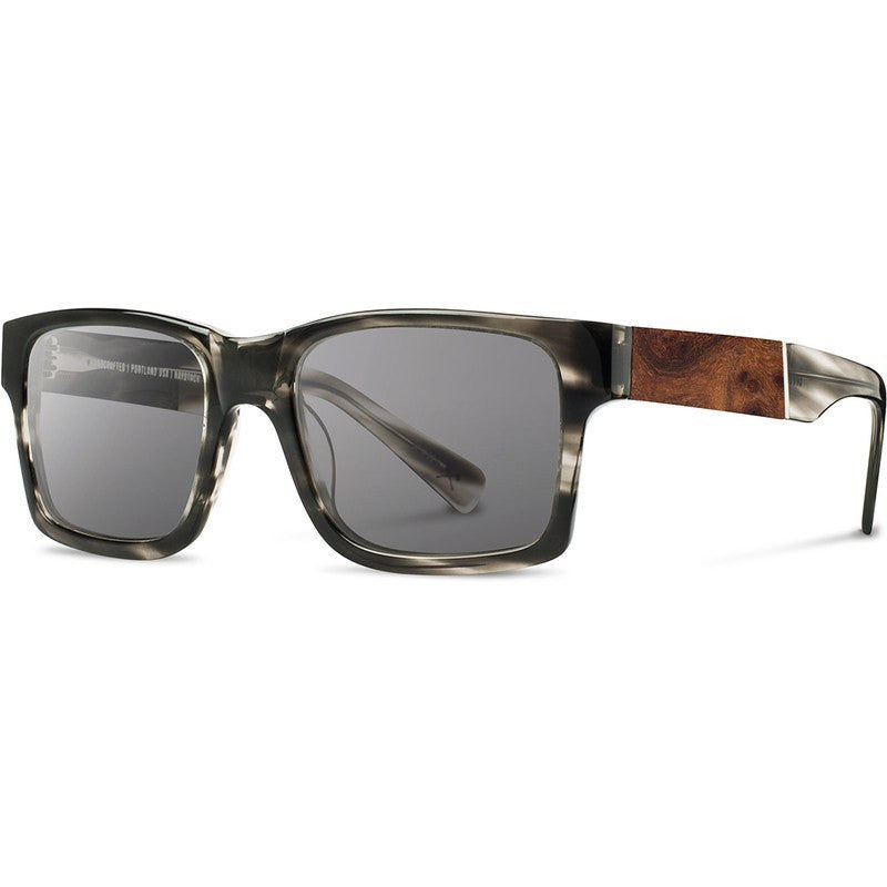 Shwood Haystack Acetate Fifty Fifty Sunglasses | Pearl Grey & Elm Burl / Grey