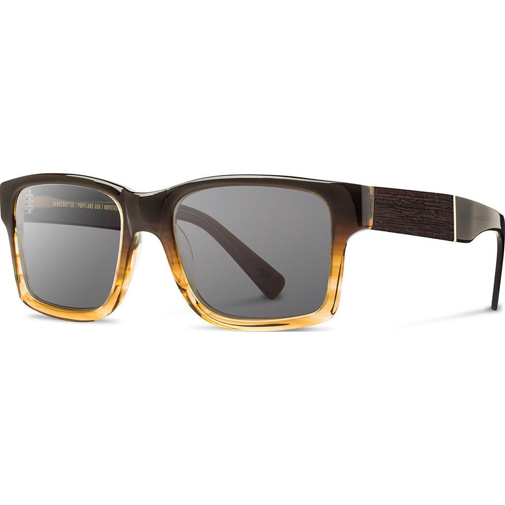 Shwood Haystack Acetate Sunglasses | Sweet Tea & Ebony / Grey WAHSTEBG