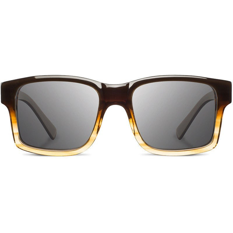 Shwood Haystack Acetate Fifty Fifty Sunglasses | Sweet Tea & Elm Burl / Grey