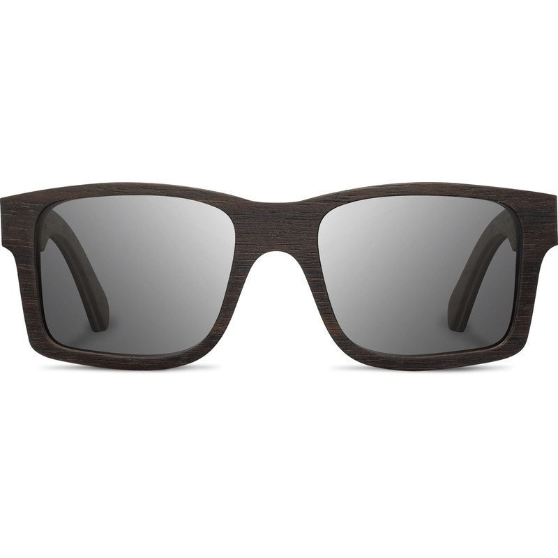Shwood Haystack Select Sunglasses | Ebony & Redwood Burl / Grey Polarized