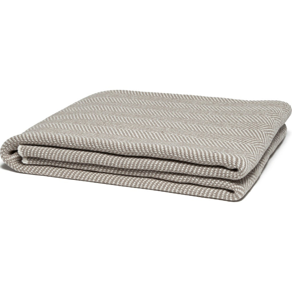 in2green Herringbone Eco Throw | Khaki BLHB2