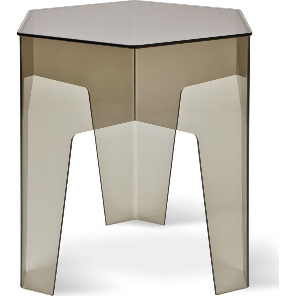 Gus* Modern Acrylic Hive End Table | Smoke ECETHIVE-smoacr