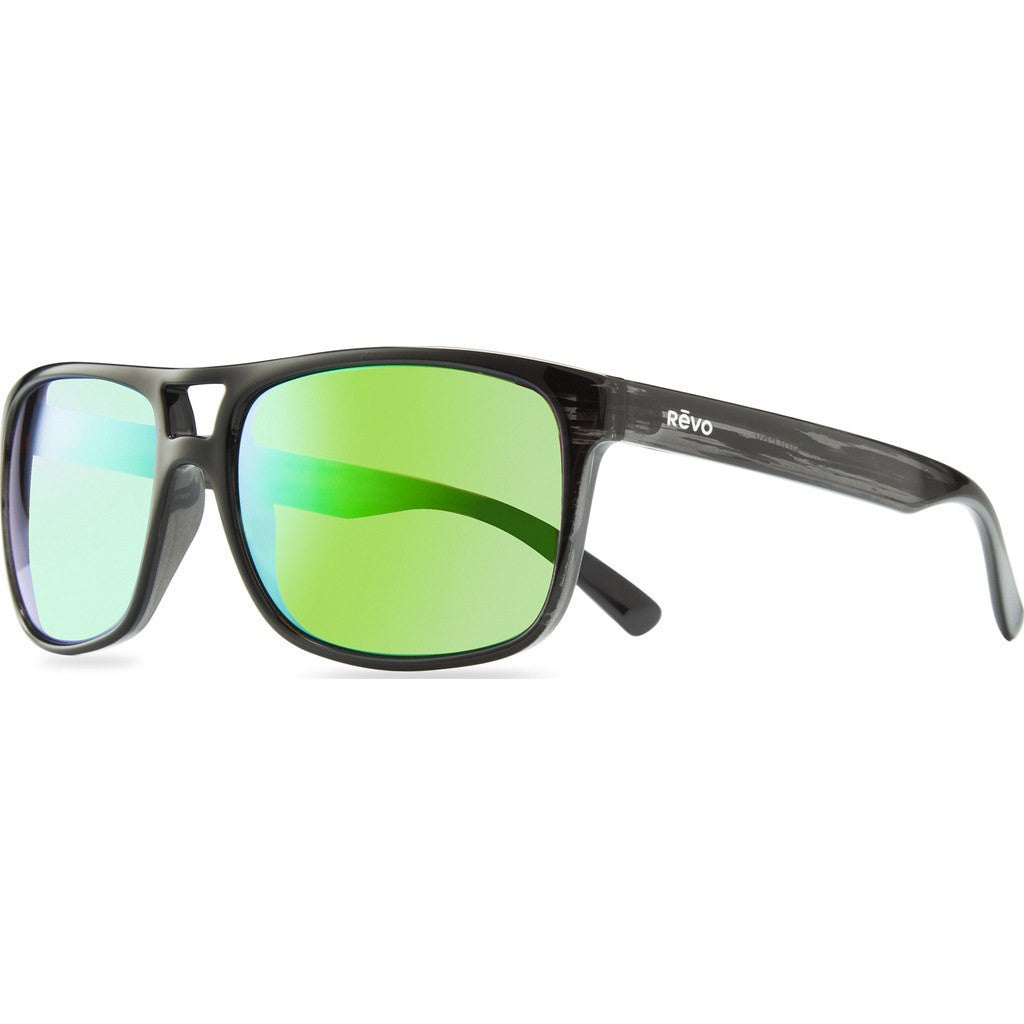 Revo Eyewear Holsby Black Woodgrain Sunglasses | Green Water RE 1019 01 GN