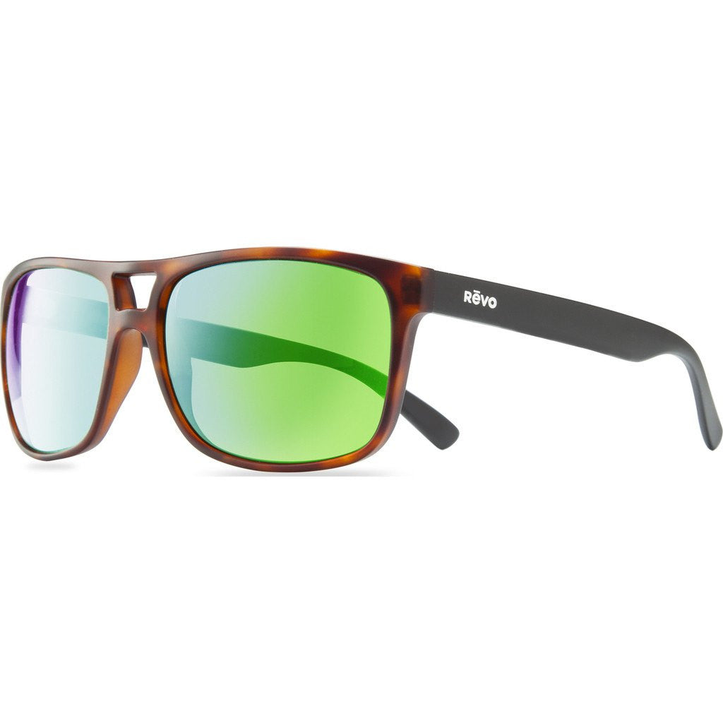 Revo Eyewear Holsby Matte Dark Tortoise Sunglasses | Green Water RE 1019 02 GN