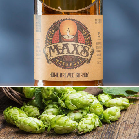 Max's Waxhouse 6oz Beer Bottle Candle | Home Brewed Shandy