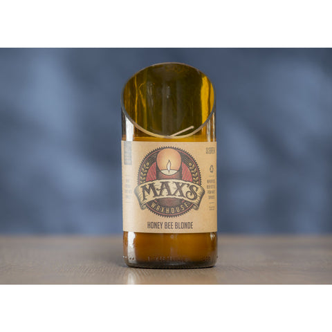Max's Waxhouse 6oz Beer Bottle Candle | Honey Bee Blonde