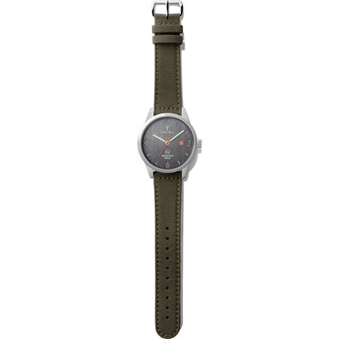 Triwa Hu 39D Gray Watch | Recycled Green Hu39D-CL080912