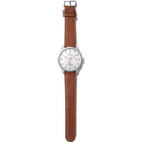 Triwa Hu 39L White Watch | Brown Hu39L-SC010212