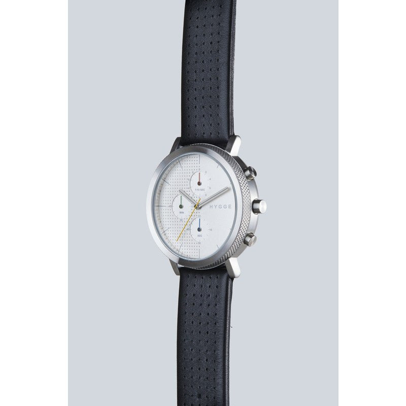 Hygge 2204 Series Silver Watch | Leather