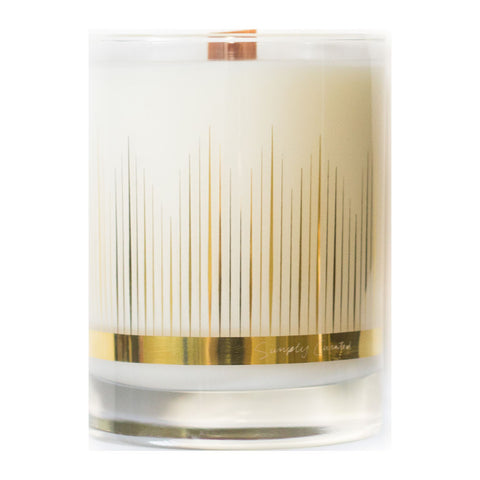 Simply Curated The Cocktail Collection 22K Gold Soy Candle | Amber + Cardamom