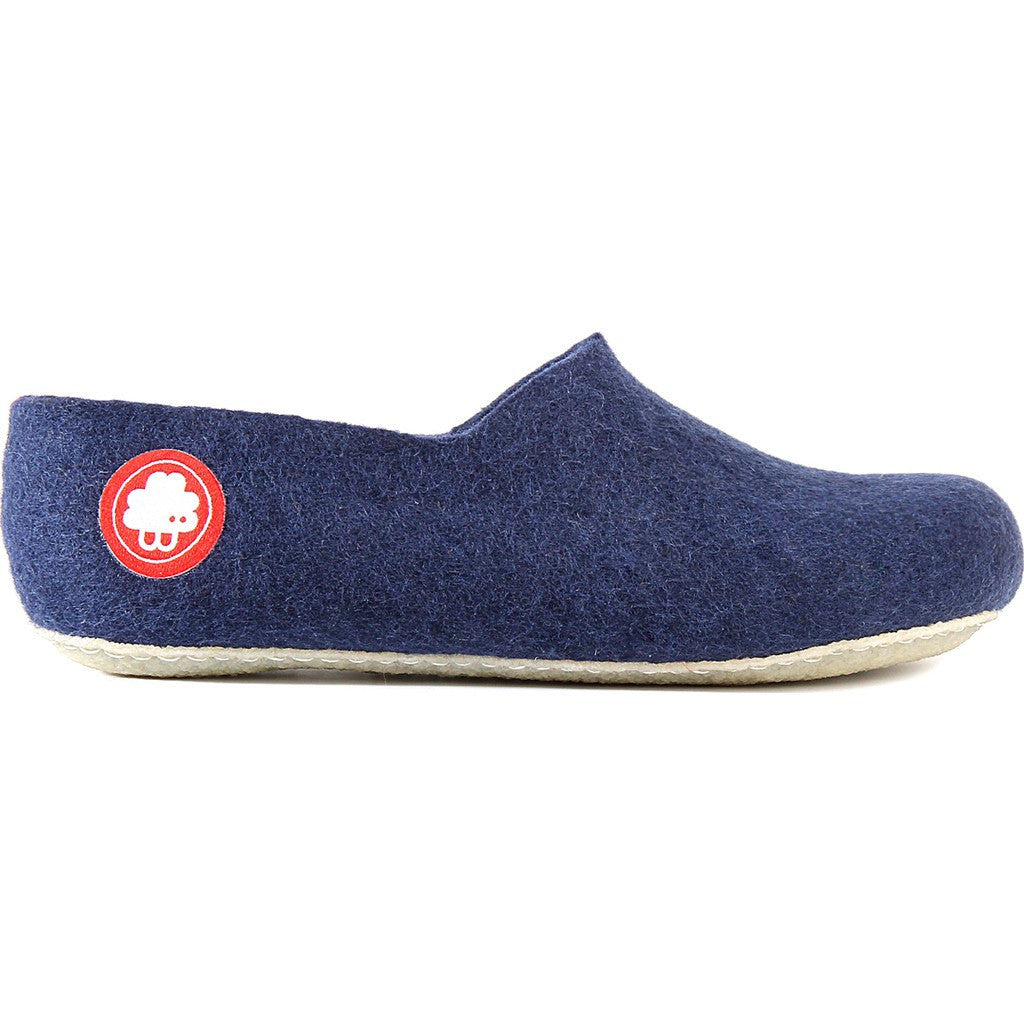 Baabuk Jeremy Wool Slippers | Navy Blue 35 JER02-BL7-R-35